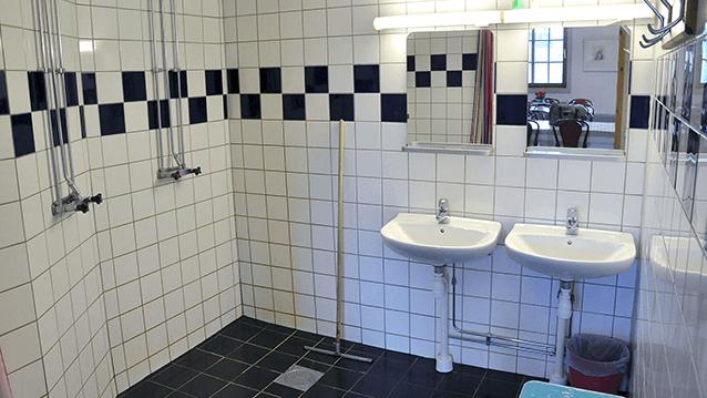Badrum på Vimmerby Vandrarhem